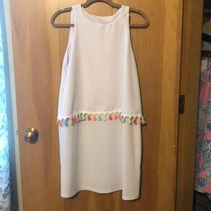 Dresses & Skirts - Fringe White Dress